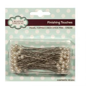 Pearl-topped Stick Pin - Cream By Creative Expressions CEPINCRM