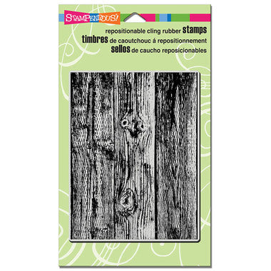 Wood Background Cling Rubber Stamp By Stampendous CRR249