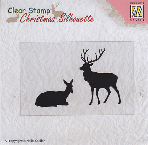 Nellie Snellen Christmas Silhouette Clear Stamps - Reindeer Ref: CSIL001