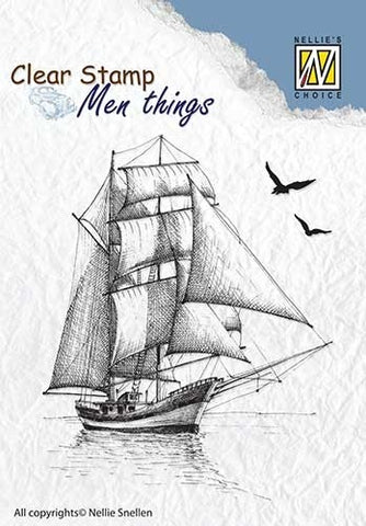 Nellie Snellen Clear Stamps Men Things - Sailingboat CSMT008