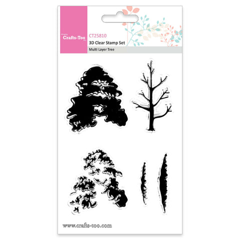 Crafts Too 3D Clear Stamp Set - Multi Layer Tree (5pcs) Ref: CT25810