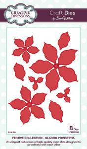 Festive Collection Classic Poinsettia by Sue Wilson CED3008