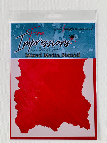 Worn and Torn Mixed Media Stencil By Christian Spencer for Fine Impressions FICSST001