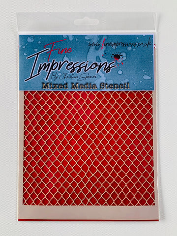 Netting Mixed Media Stencil By Christian Spencer for Fine Impressions FICSST006