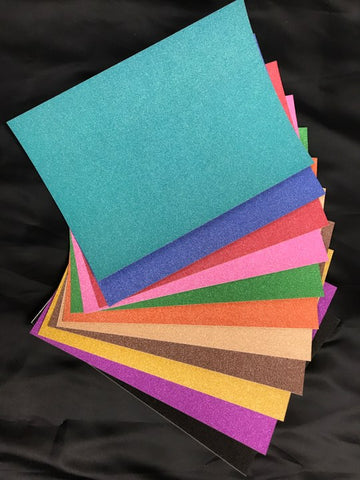 None Shed Glitter Card Assorted Colours