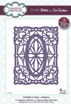 Hannah Frame and Tags Collection Craft Dies by Sue Wilson Creative Expressions CED4309