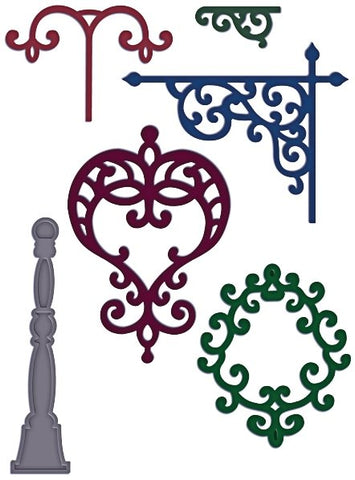 Decorative Metal Fixtures Heartfelt Creations Dies by Spellbinders HCD725