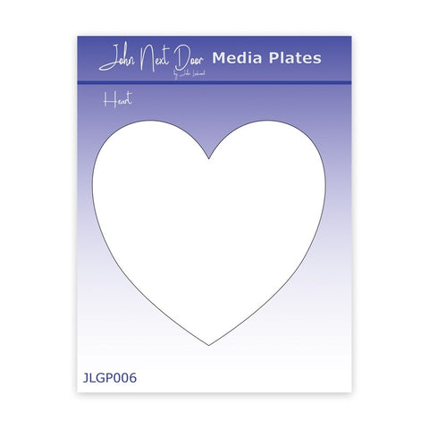 John Next Door Media Plate - Heart JLGP006