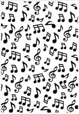 Nellie Snellen Embossing Folder Background - Musical Notes HSF024