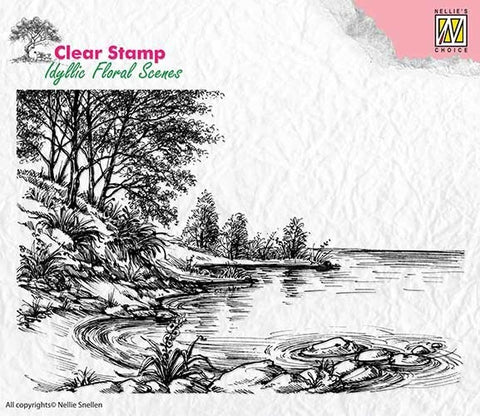 Nellie Snellen Clear Stamp Idyllic Floral Scenes - Waters Edge IFS006