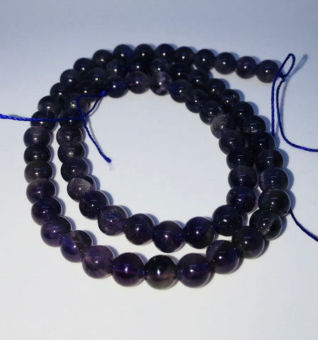 Natural Round Purple Amethyst Beads 6mm Approx 65pcs TRC323
