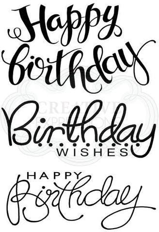 Woodware Clear Singles - Big Birthday Words JGS630
