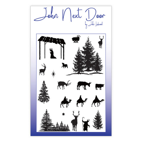 John Next Door Clear Stamp - Festive Silhouettes JND0012