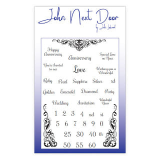 John Next Door Clear Stamp - Anniversary Sentiments JND0015