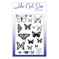 John Next Door Clear Stamp - Butterflies JND0017