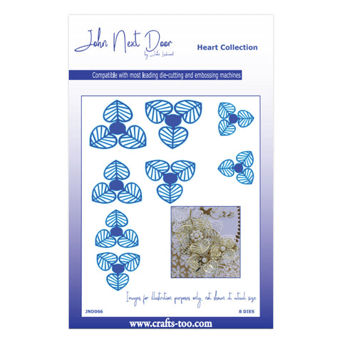 John Next Door Heart Collection - Honesty Flowers (8pcs) JND066
