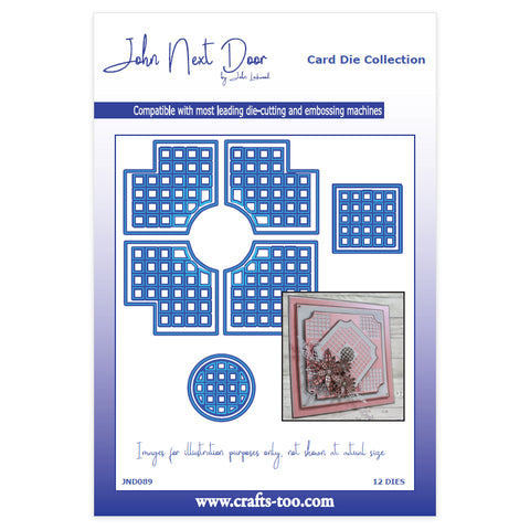 John Next Door Card Die Collection - Lattice Corners (12pcs) JND089