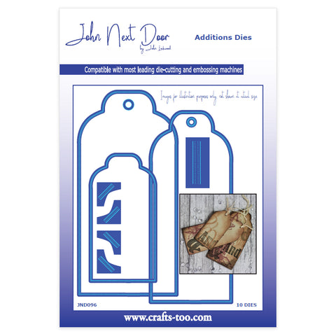 Luggage Tags Additions Dies John Next Door Dies By John Lockwood (10pcs)  JND098