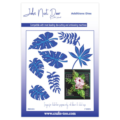 Exotic Leaves Additions Dies (7pcs)  John Next Door By John Lockwood JND101