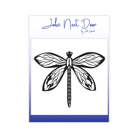 Bold Dragonfly Stamp John Next Door By John Lockwood JND122A