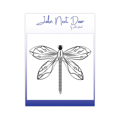 Delicate Dragonfly Stamp John Next Door By John Lockwood JND122B