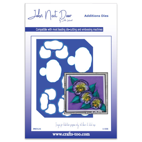 Pansy Additions Dies (6pcs)  John Next Door By John Lockwood JND121
