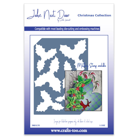 Holly Plate Die John Next Door Christmas Collection Dies JND135