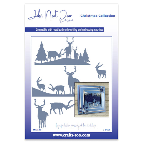 Deer Scenes 2019 Die John Next Door Christmas Collection Dies JND138