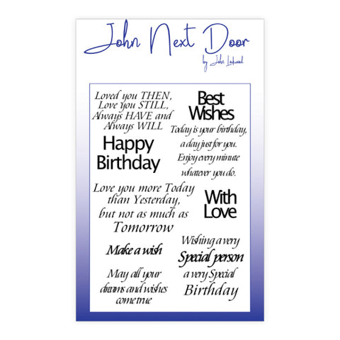 Loving Sentiments Clear Stamps 11 Stamps John Next Door JND150