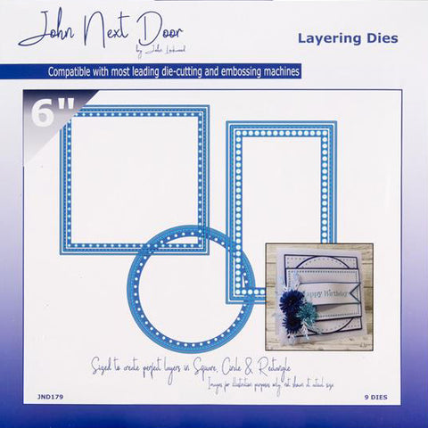 "Layering 6"" Dies John Next Door Card Die Collection (9pcs) Ref: JND179"