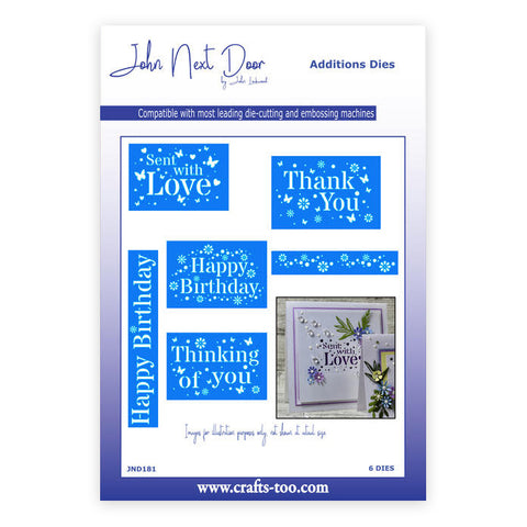 Stencil Sayings John Next Door Additions Collection Dies (6pcs) JND0181