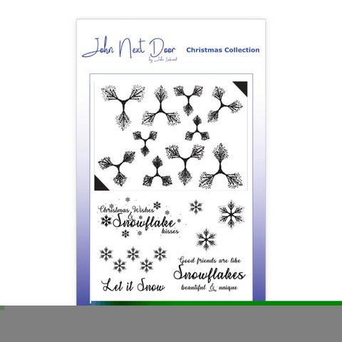 Snowflower John Next Door Clear Stamp Christmas Collection By John Lockwood JND185