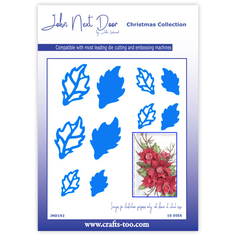 Poinsettia Leaves Die John Next Door Christmas Collection Dies John Lockwood JND192