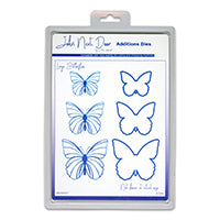 John Next Door Additions Dies - Large Butterflies (6pcs) JNDAD007