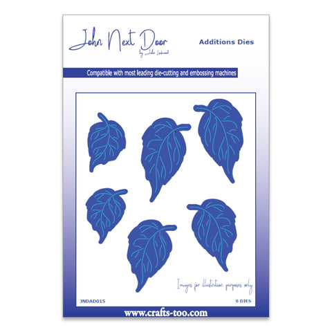 John Next Door Additions Dies - Rose Leaves (6pcs) JNDAD015
