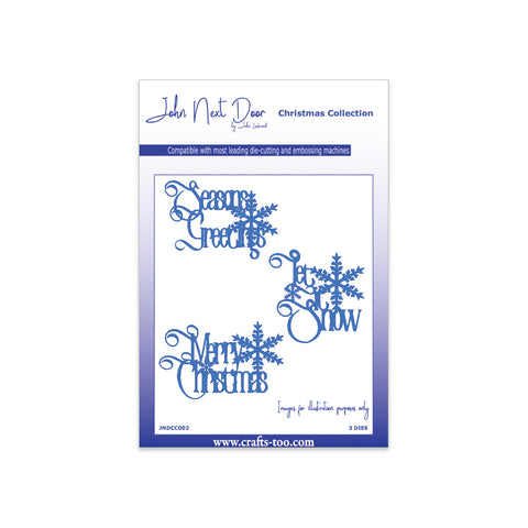 John Next Door Christmas Dies - Festive Greetings (3pcs) JNDCC002