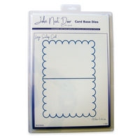 John Next Door Card Base Dies - Large Scallop Card JNDCD004