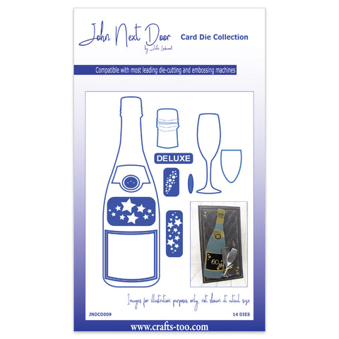 Champagne Bottle John Next Door Die By John Lockwood (14pcs) JNDCD009 Crafts Too