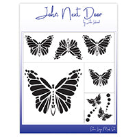 John Next Door Mask Stencil - Butterflies Set of 4 JNDM0019