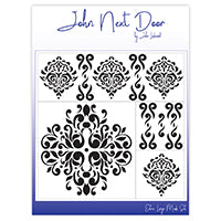John Next Door Mask Stencil - Damask Dreams Set of 4 JNDM0020