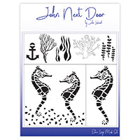 John Next Door Mask Stencil - Seahorse Set of 4 JNDM0021