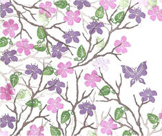 Oriental Blossom Majestix Clear Peg Stamp Set By Card-io