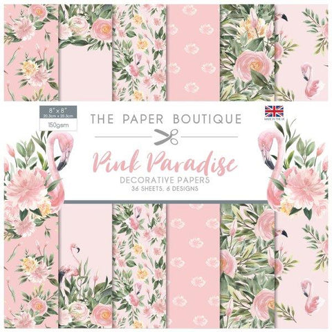 Pink Paradise Decorative Papers 8x8 36 Sheets 150gsm By The Paper Boutique PB1104