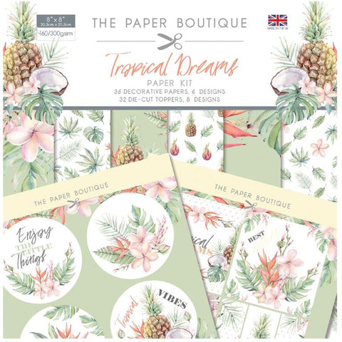 Tropical Dreams Paper Kit 8x8 Pad 160/300gsm By The Paper Boutique PB1191