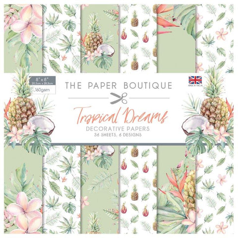 Tropical Dreams Decorative Papers 8x8 36 Sheets 160gsm By The Paper Boutique PB1192