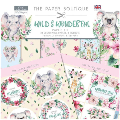 Wild Wonderful Paper Kit 8x8 Pad 160/300gsm By The Paper Boutique PB1282