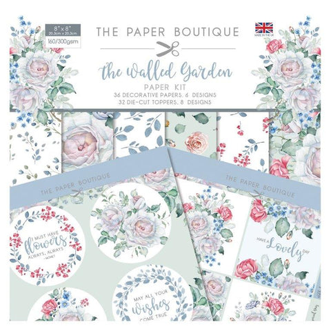 The Walled Garden Paper Kit 8x8 Pad 160/300gsm By The Paper Boutique PB1287