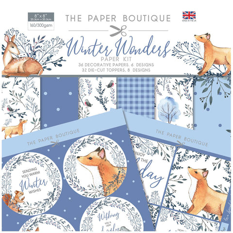 Winter Wonders Paper Kit 8x8 Pad 160/300gsm By The Paper Boutique PB1423