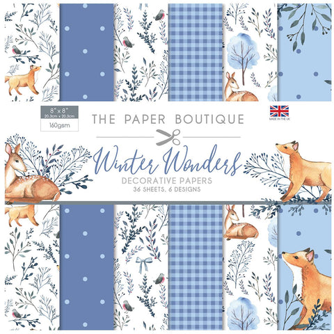 Winter Wonders Decorative Papers 8x8 36 Sheets 160gsm By The Paper Boutique PB1424
