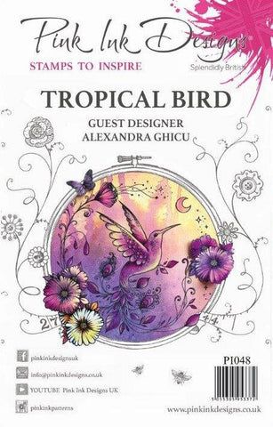 Tropical Bird Guest Designer Alexandra Ghicu 6 Stamps Set By Pink Ink Designs PI048
